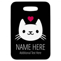 I Love Cats Custom Travel Tag