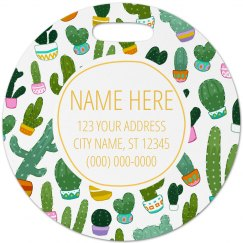 Custom Succulent Travel Tag