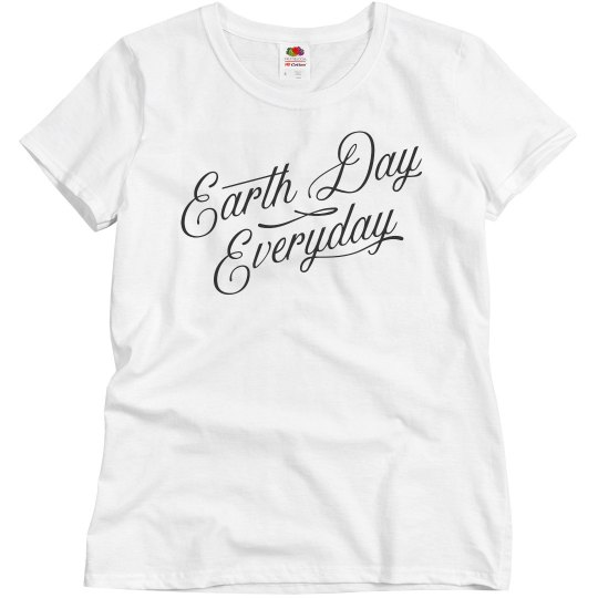 bde81f4e9 Earth Day Everyday Go Green Ladies Relaxed Fit Basic Promo T-Shirt
