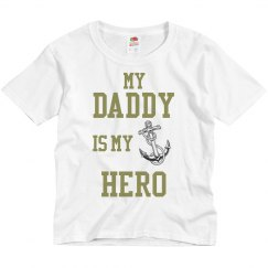 Daddy is My Hero (Navy)