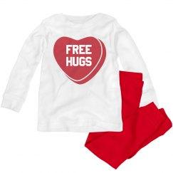 Free Hugs Valentine's Toddler Pajamas