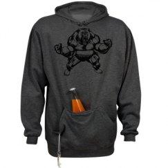 Unisex Beer Holder Tailgate Hoodie