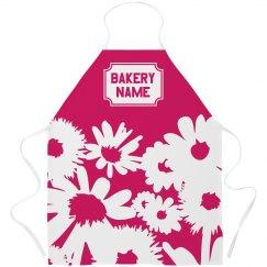 Custom Floral Print Bakery Apron