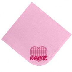 Heart Personalise Blanket