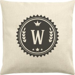 Custom Last Name Initial Pillow