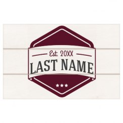 9 x 14 Pre-Assembled Plank Sign