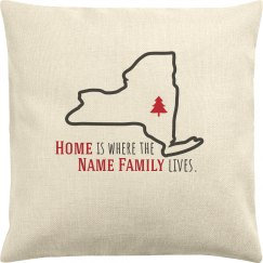 Custom Family State Pillow Case
