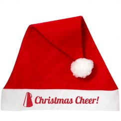 Christmas CHEER Wordplay Santa Hat for Cheerleaders!