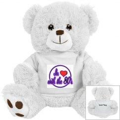 Love The 80's White Teddy