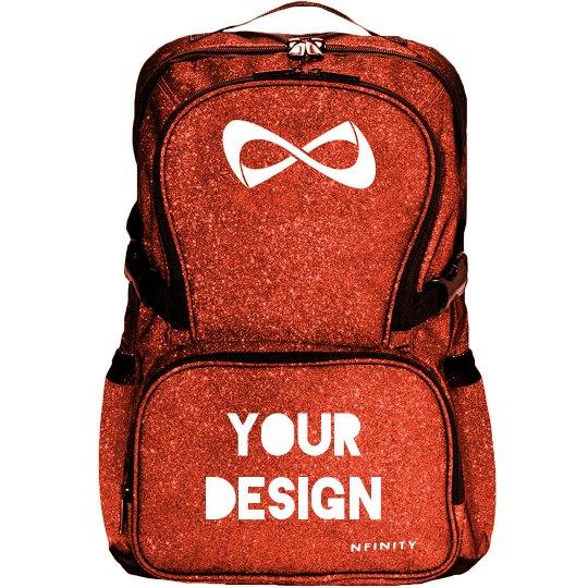 Create Your Own Cheer Bag Nfinity Black Sparkle Backpack Bag 9af683176