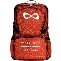 Gold Glitter Custom Text Backpack