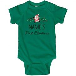 Cute First Christmas Baby Onesie