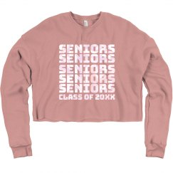 Custom Date Seniors Crop Sweater