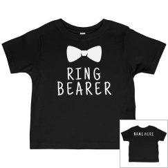 Ring Bearer Bowtie Custom Name Tee