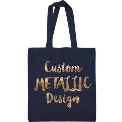 Custom Metallic Tote Bag Design