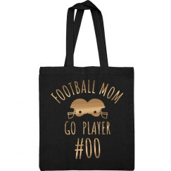 Metallic Gold Football Mom Custom #