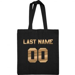 Metallic Gold Name/No. Football Mom