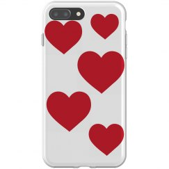 hearts iphone 8 plus flexi case