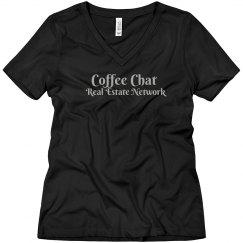 Coffee chat Glitter Silver - women