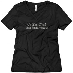 Coffee chat Glitter Silver - women