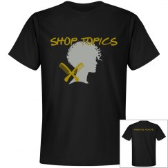SHOP TOPICS TEE - BLACK N GOLD