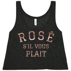 Rose Gold Metallic Rosé Crop