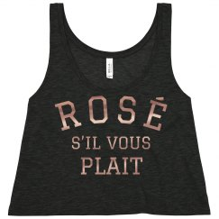 Rose Gold Metallic Rosé Crop