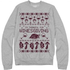 Thanksgiving Wine Ugly Sweater Graphics
