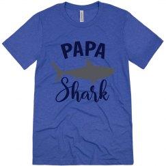 Papa Shark Tri-blend Shirt