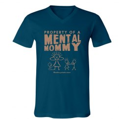 Men's Property of a Mental Mommy V-Neck