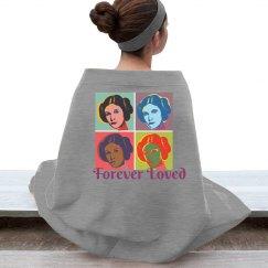 Forever Loved Princess Leia Stadium Blanket