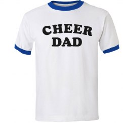 Certified Cheer Dad Ringer Tee
