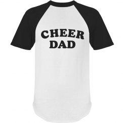 Certified Cheer Dad Ringer Tee