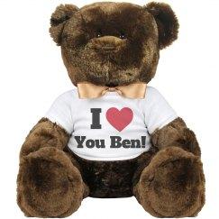 I love you Ben Valentine Bear