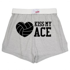 Kiss My Ace Funny Volleyball Wordplay Soffe Shorts