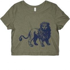 Lion Crop Top