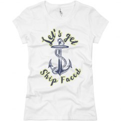Let's get Ship Faced Tee - Slimfit
