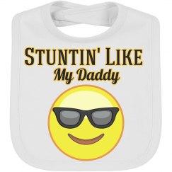 Stunting like Daddy emoji Bib