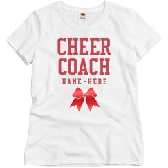 Metallic Custom Cheer Coach Design