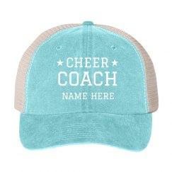 Custom Name Cheer Coach Stars
