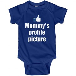 Mommy's Profile Picture Funny Onesie