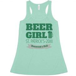 Pub Beer St Pats Girl Bartender
