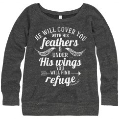 Cover You With His Feathers - Psalm 91:4 Sweatshirt