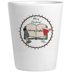 Literary Lushes Christmas Edition Ceramic Shot Glass