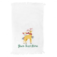 Custom Kitchen Reindeer Towel