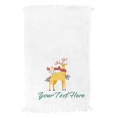 Custom Kitchen Reindeer Towel
