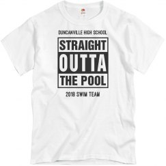Custom Budget Swim Team Tee