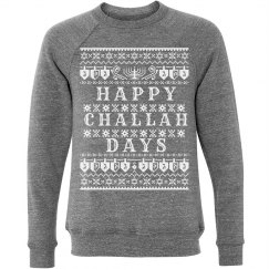 Happy Challah Ugly Sweater