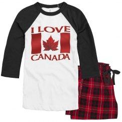 I Love Canada Pajamas