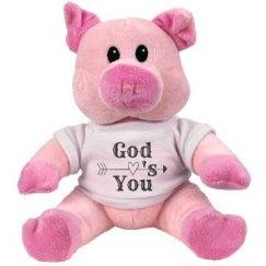 God Love's You Stuffed Pink Piggie